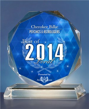 Cherokee Billie Receives 2014 Best of Doral Award-Click Picture For Article.
