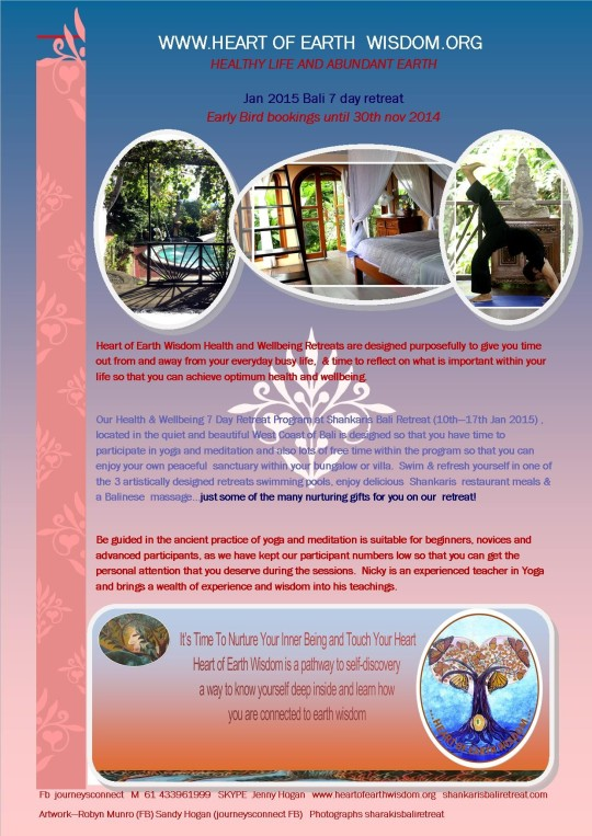 Heart of Earth Wisdom At Shankaris Bali Retreat Centre