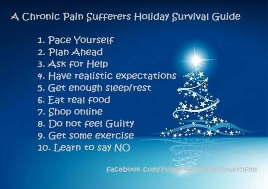 Holiday Survival Guide for those with Chronic Pai