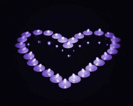 Purple candles for Fibromyalgia