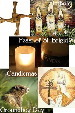 Imbolc, the Feast of Saint Brigid, Candlemas, and Groundhog Day